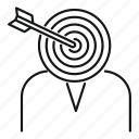 aim, consumer, corporate, customer, focus, headhunter, target
