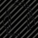 headphone, headset, help, helpline, operator, phone, speaker icon