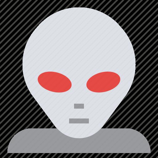 Alien, face, monster, avatar, ufo icon