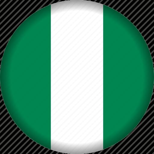 flag, nigeria icon