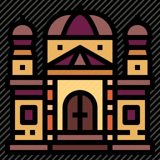 architectonic, basilica, catholic, landmark icon