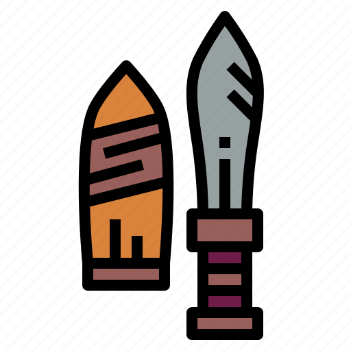 ancient, cultures, knife, weapon icon