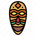 african, culture, mask, traditional icon