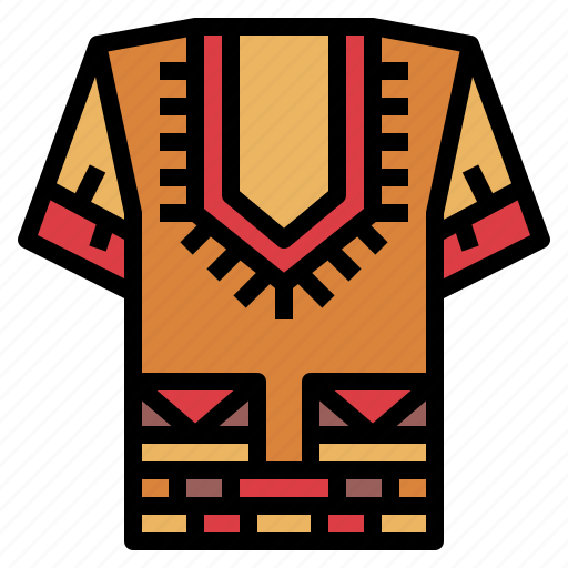 african, clothing, fashion, shirt icon