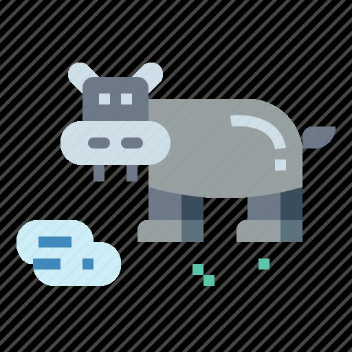 animal, hippopotamus, mammal, zoo icon