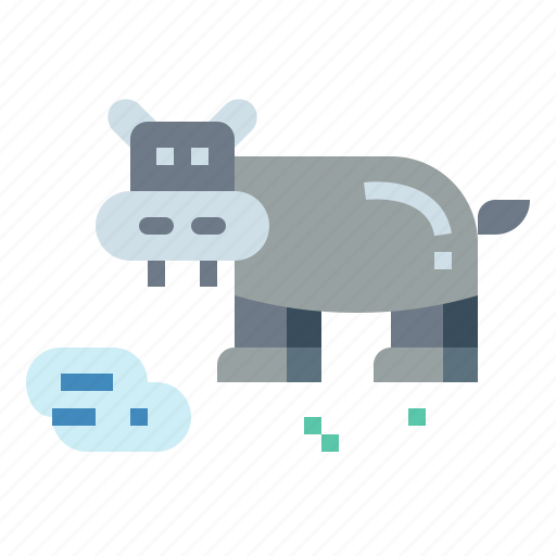 Animal, hippopotamus, mammal, zoo icon - Download on Iconfinder