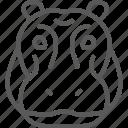 africa, animal, head, hippo, hippopotamus, river-horse, zoo icon