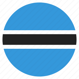 african, botswana, country, flag, national icon