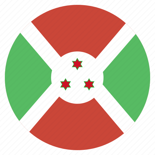 african, burundi, country, flag, national icon