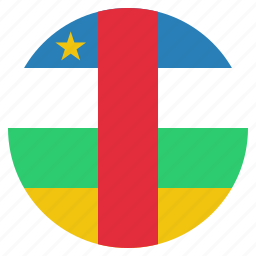 african, central, country, flag, national, republic icon
