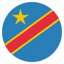 congo, country, democratic, flag icon