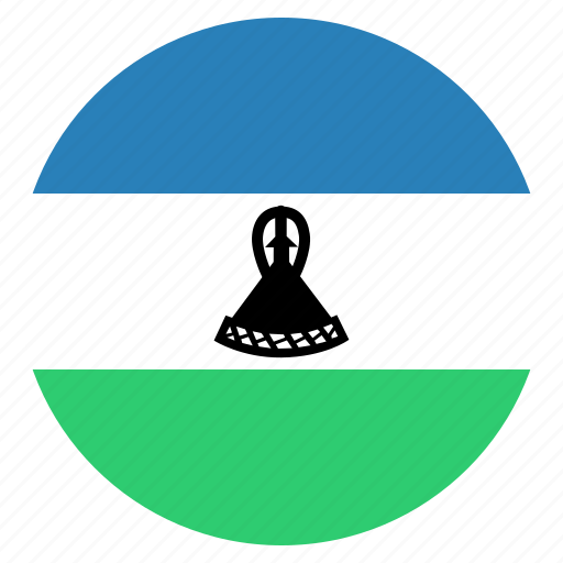 african, country, flag, lesotho, national icon