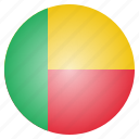 african, benin, country, flag, national icon