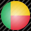 benin, country, flag icon