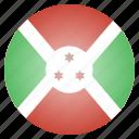african, burundi, country, flag, national icon