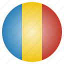 african, chad, country, flag, national icon