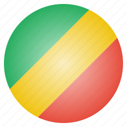 african, congo, country, flag, national icon
