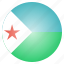 african, country, djibouti, flag, national icon