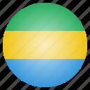 country, flag, gabon, gabonese icon