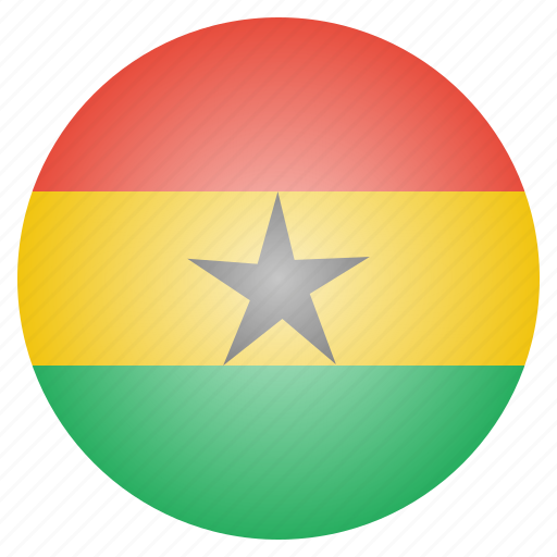 african, country, flag, ghana, national icon