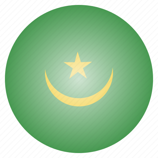 african, country, flag, mauritania, national icon