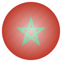 african, country, flag, morocco, national icon