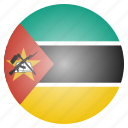 african, country, flag, mozambique, national icon