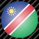 country, flag, namibia, namibian icon
