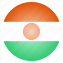 african, country, flag, national, niger icon
