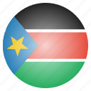 african, country, flag, national, south, sudan icon