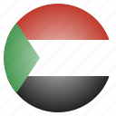 country, flag, sudan, sudanese icon
