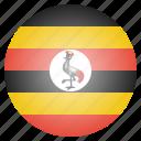 african, country, flag, national, uganda icon