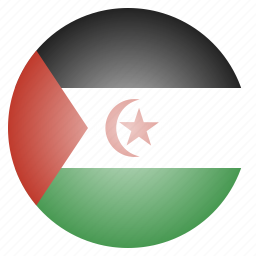 african, country, flag, national, sahara, western icon
