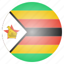 african, country, flag, national, rhodesia, zimbabwe icon