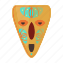african, ethnic, face, idol, mask, tribal, voodoo icon