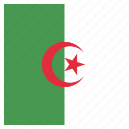 algeria, algerian, country, flag, national icon