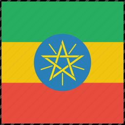 country, ethiopia, ethiopian, flag, national icon