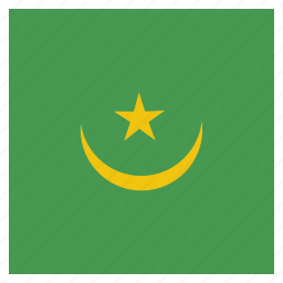 country, flag, mauritania, national icon
