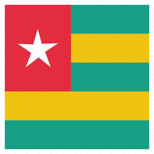 country, flag, national, togo icon