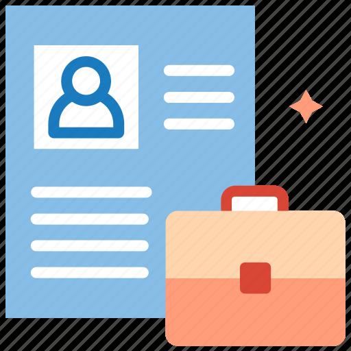 cv, personal, portfolio, profile, resume, work icon