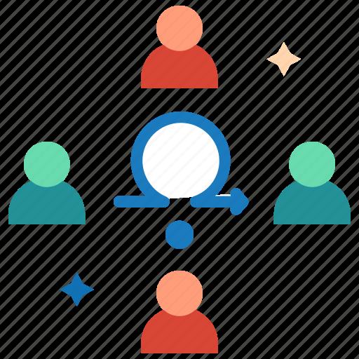 agile setup, agile team, development team, retrospective meeting, review meeting, sprint planning icon