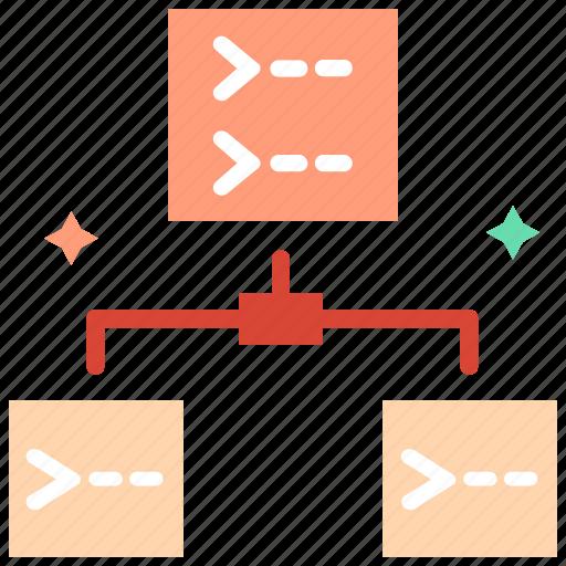 child, child entity, child task, hierarchy, history, meta data icon