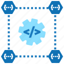 continuous integration, data management, integration, data integration, release icon