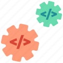 automation, configuration, delivery, devops, settings icon