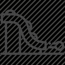 agile, launch, order, process, rail, release, track icon