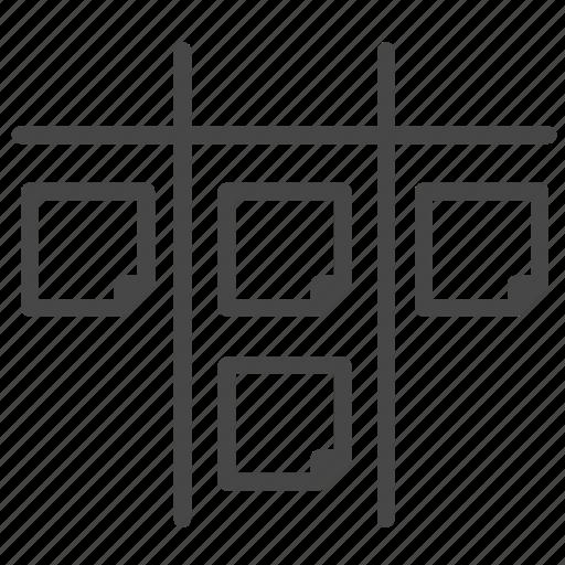 agile, development, process, scrum, sprint, table icon