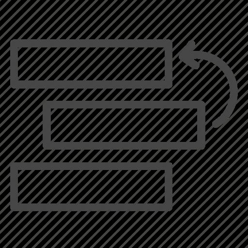 agile, backlog, move, priority, task, ticket icon