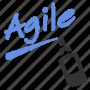 agile, agile board, draw, marker, training, whiteboard, write icon