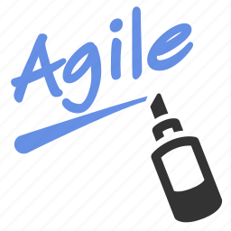 agile, agile board, draw, marker, training, whiteboard, write icon