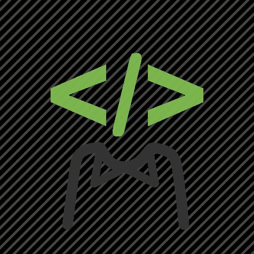 computer coding, developer, development, programmer, seo, web, worker icon